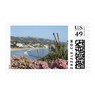 Sello de las flores del Laguna Beach
