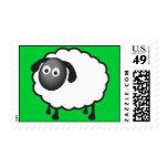 Sello de las ovejas con color de fondo adaptable