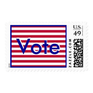 Sello de las rayas del voto