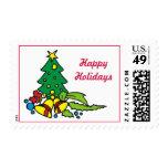 Sello de las tarjetas de Navidad