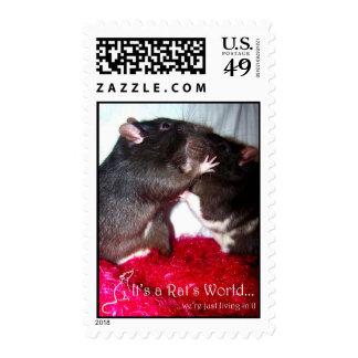 Sello de los besos de la rata