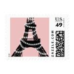 Sello de los centelleos de la torre Eiffel (rosa)