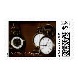 Sello de los E E U U con la colección de reloj de