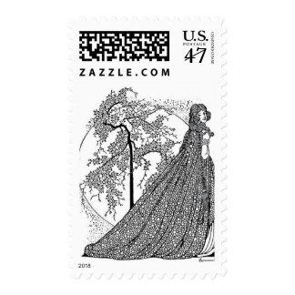 ¡Sello de los E.E.U.U. del arte del vintage del Estampilla