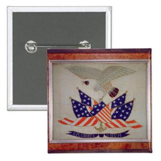Sello de los Estados Unidos de América, c.1840 Pin Cuadrado