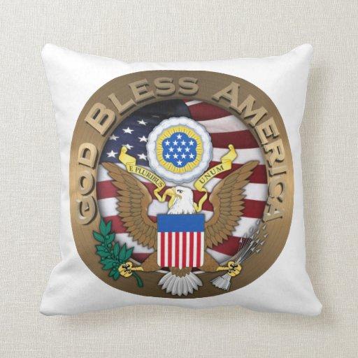 Sello de los Estados Unidos de América - dios bend Cojin
