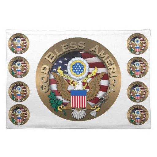 Sello de los Estados Unidos de América - dios bend Mantel