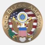 Sello de los Estados Unidos de América - dios Pegatinas Redondas