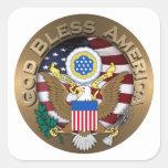 Sello de los Estados Unidos de América - dios Colcomanias Cuadradas