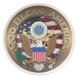 Sello de los Estados Unidos de América - dios Plato De Cena