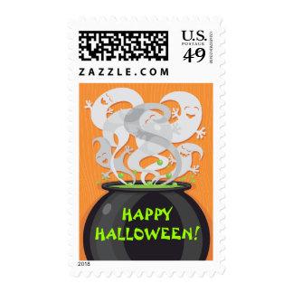 Sello de los fantasmas del feliz Halloween