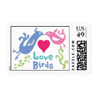 Sello de los pájaros del amor