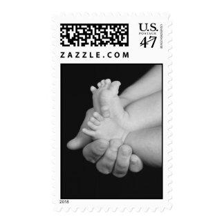 Sello de los pies del bebé