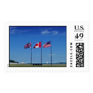 Sello de los tres E.E.U.U. de la bandera para