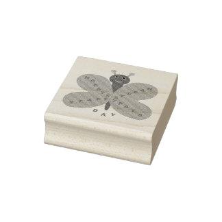 Sello de madera del arte de la mariposa del día de