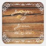 Sello de madera del pegatina del boda del marco de