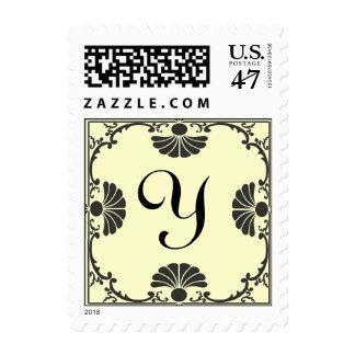 Sello de marfil adornado de la letra Y del