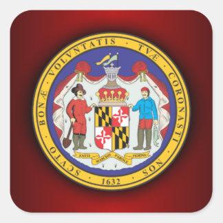 Sello de Maryland Pegatina Cuadrada