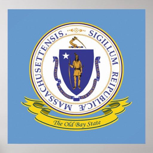 Sello de Massachusetts Póster