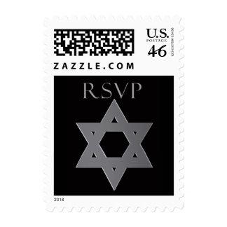 Sello de Mitzvah RSVP de la barra en plata
