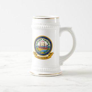 Sello de New Hampshire Jarra De Cerveza
