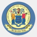 Sello de New Jersey Etiquetas Redondas