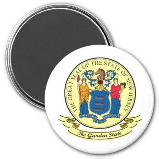 Sello de New Jersey Imán Redondo 7 Cm