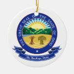 Sello de Ohio Ornaments Para Arbol De Navidad