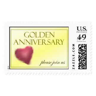 Sello de oro del aniversario de 50 años
