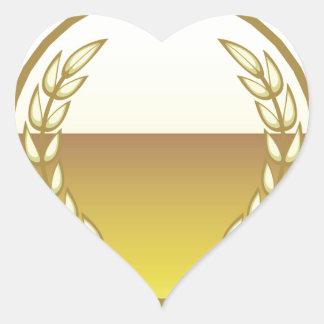 Sello de oro pegatina en forma de corazón