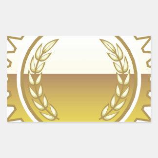 Sello de oro pegatina rectangular