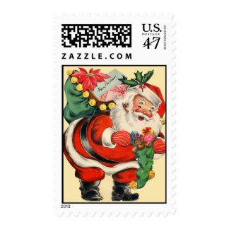 Sello de Papá Noel del vintage