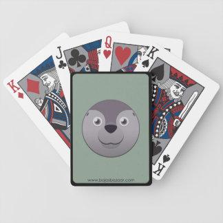 Sello de papel baraja cartas de poker
