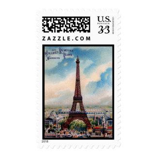 Sello de París Francia de la torre Eiffel del vint