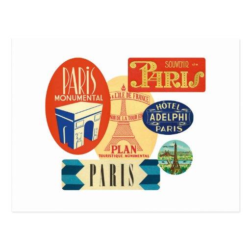 Sello de París Tarjetas Postales