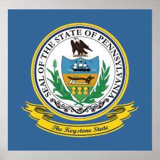 Sello de Pennsylvania Póster