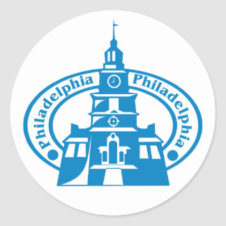 Sello de Philadelphia Pegatinas Redondas