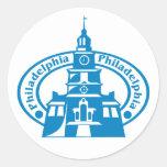 Sello de Philadelphia Pegatina Redonda