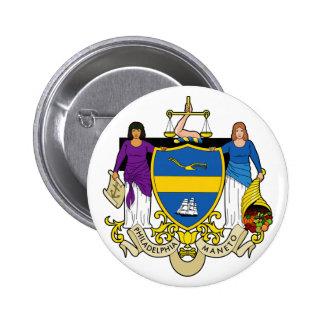Sello de Philadelphia, Pennsylvania Pin Redondo 5 Cm
