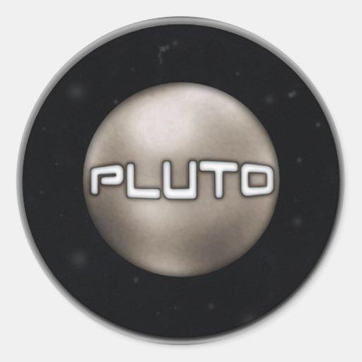 Sello de Plutón Pegatina Redonda