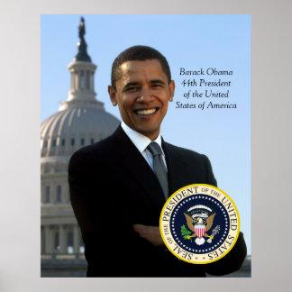 Sello de Pres del retrato y del funcionario de Bar Poster