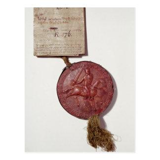 Sello de rey Richard I Tarjeta Postal