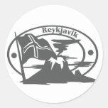 Sello de Reykjavik Pegatinas Redondas