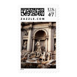 Sello de Roma Italia de la fuente del Trevi