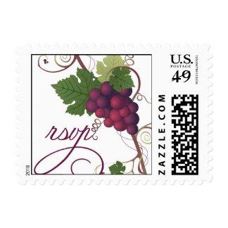 Sello de RSVP de la uva de vino