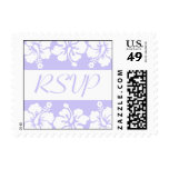 Sello de RSVP (el hibisco florece la violeta)