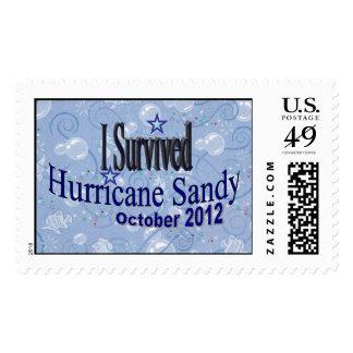 Sello de Sandy del huracán
