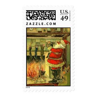 Sello de Santa del navidad del vintage