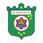 Sello de Tel Aviv - símbolo - logotipo Postal