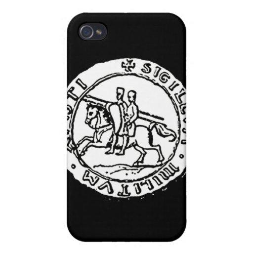 Sello de Templar de los caballeros iPhone 4 Fundas